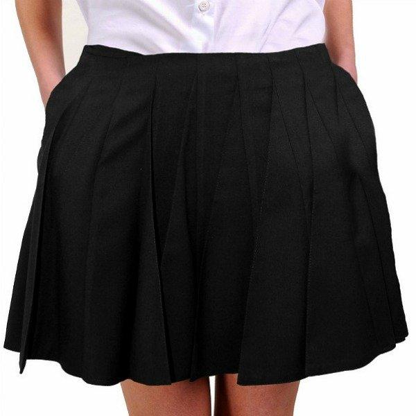 C чем одеть короткую черную юбку