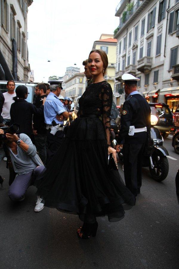 Ульяна Сергеенко перед показом Pucci