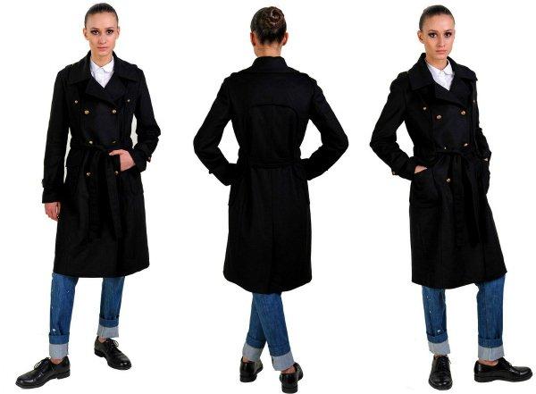 Надеваем пальто в стиле милитари