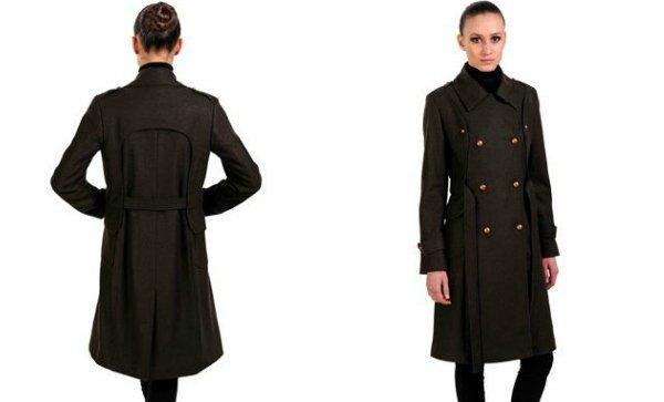 Полушерстяное двубортное пальто anisimov