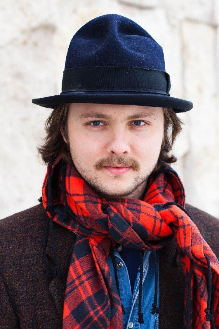 Стильный мужской шарф