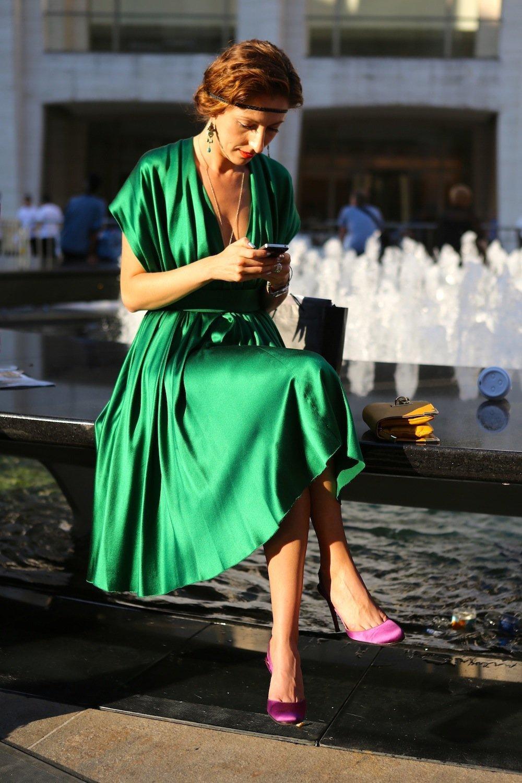 Трендовый зеленый цвет