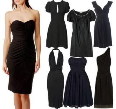 Маленькое черное платье без бретелей