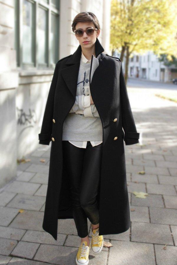 Пальто, рубашка, леггинсы ZARA