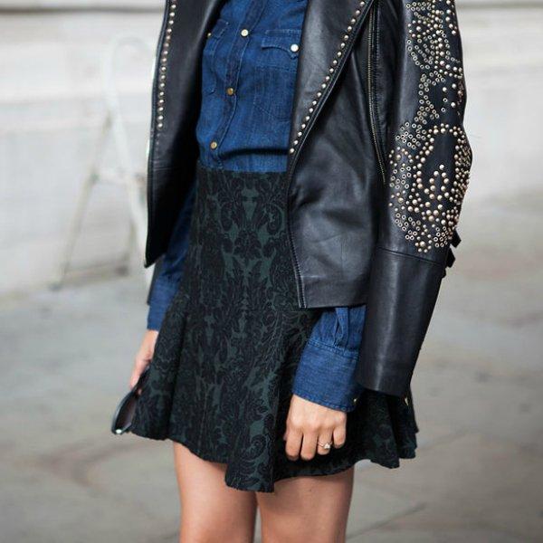 Куртка, рубашка, юбка ZARA