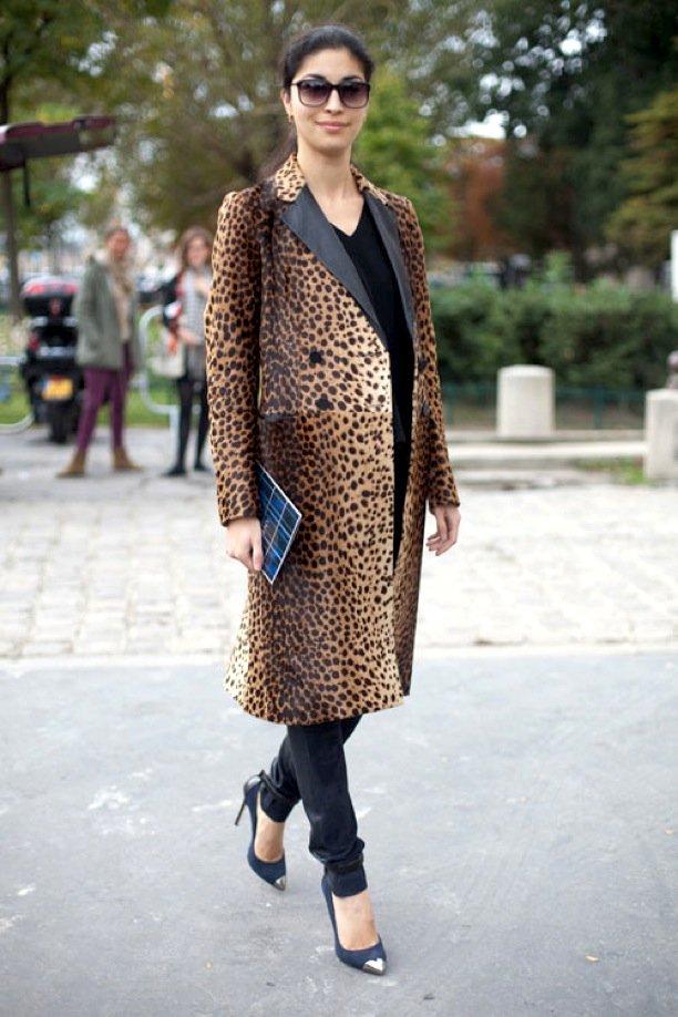 Пальто с леопардовым принтом