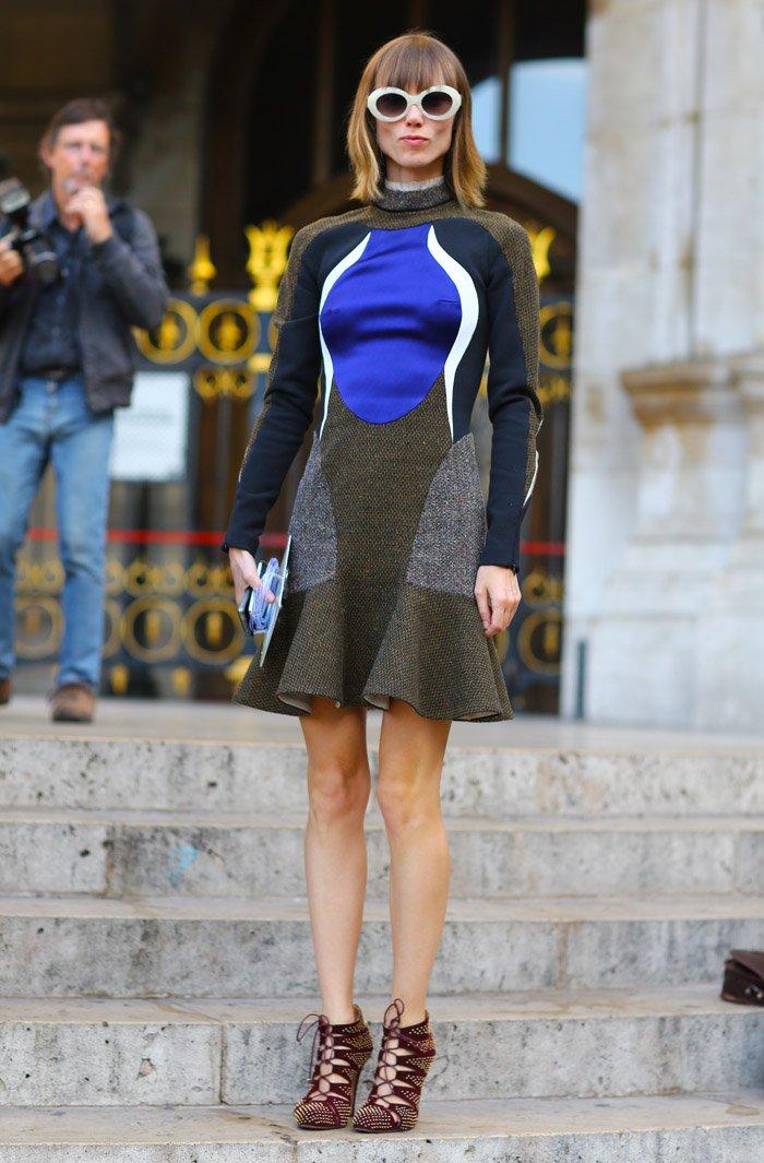 Анна Зюрова в платье Stella McCartney
