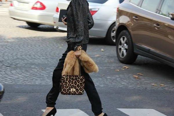 Сумка с леопардовым принтом