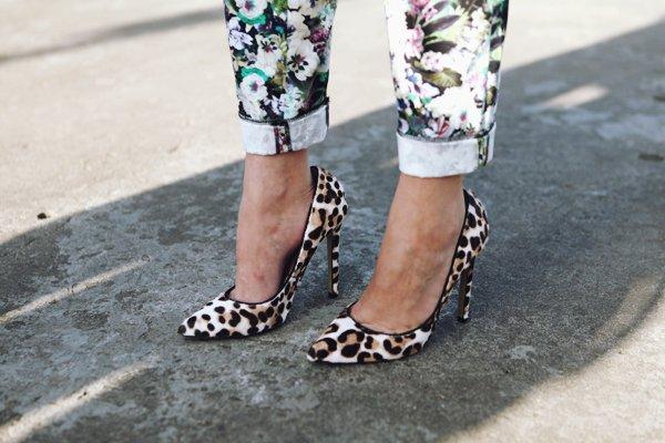 Туфли с леопардовым принтом