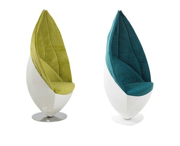 Зеленые листья воплотились в креслах Limbo от дизайнеров студии Induflex.