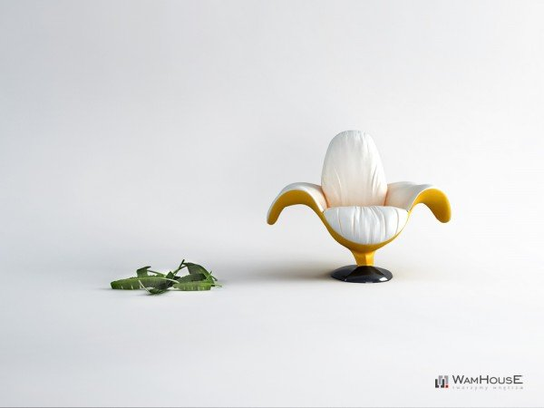 """Фруктовая тема не оставила польских дизайнеровиз студии WAMHOUSE равнодушными. В результате мы видим банановое кресло """"Zjedzony""""."""