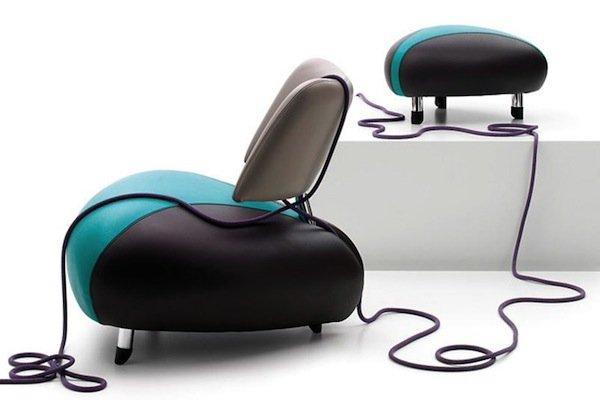 Яркие кресла от студии Leolux выглядят достаточно футуристично.