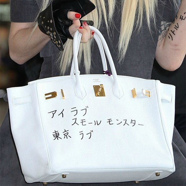 Леди Гага с сумкой Hermes Birkin