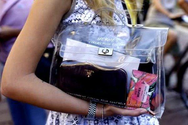 Прозрачная сумка из пластика