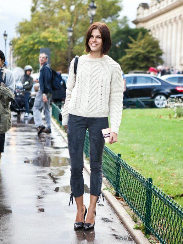 Укороченные брюки skinny