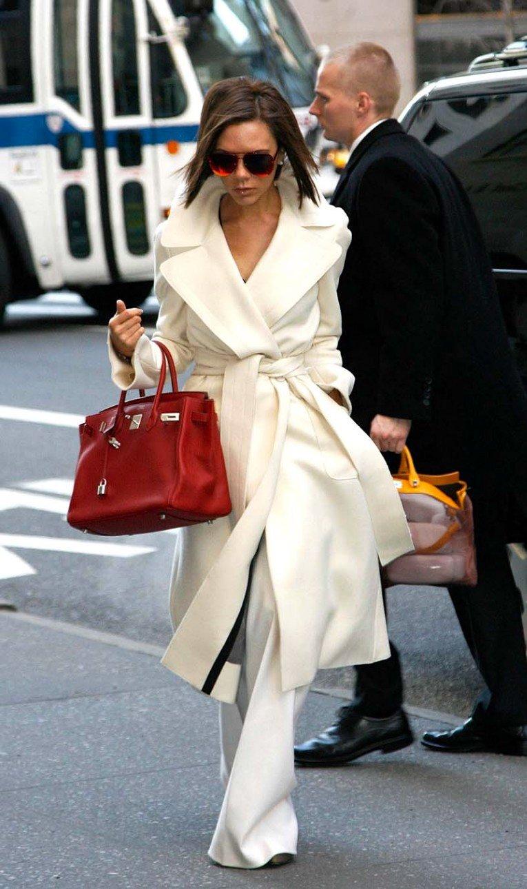 Виктория Бекхем с сумкой Hermes Birkin