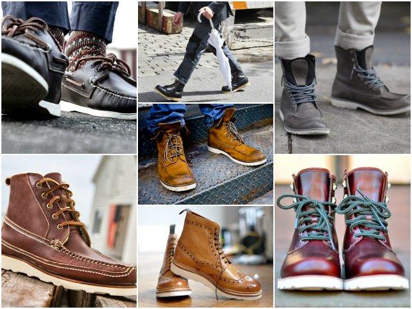 Ботинки на контрастной подошве
