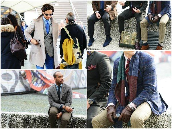 Брюки и пиджак разных оттенков и фактур