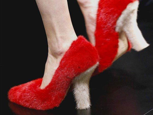 Фото туфли с мехом