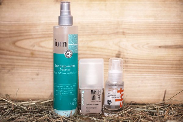 Soin Oligo-Nutritif 2-Phases, IUM; Сolourlux Colour Care Moisture Gloss Serum Сolourlux Care, Marlies Moller; Sht Split Ends Serum, Barex