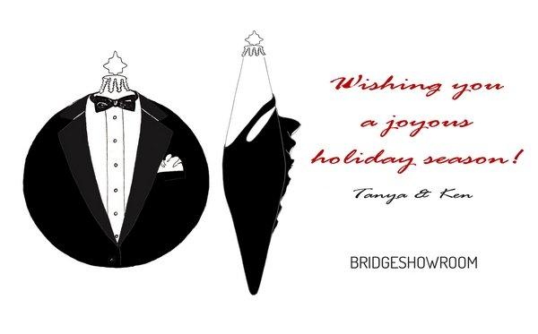 Новогодние открытки для американского агентства BRIDGESHOWROOM