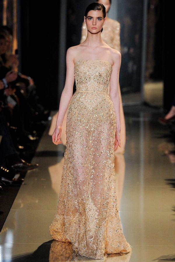 Показ коллекции Elie Saab весна-лето 2013 в рамках Couture Fashion Week