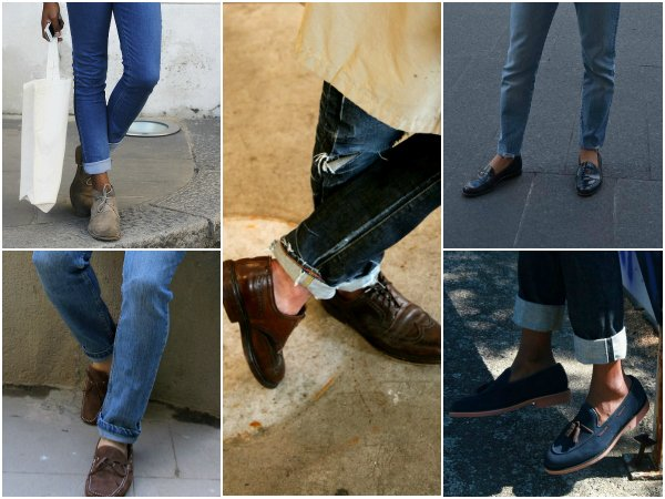 Брюки и джинсы с подворотом (2)