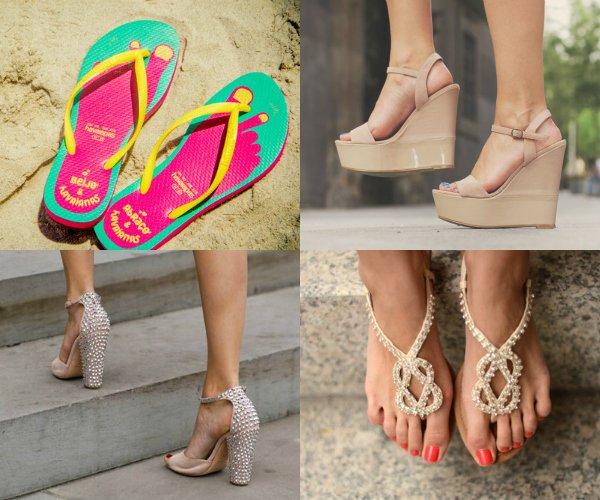 Две пары босоножек, сандалии, пляжная обувь
