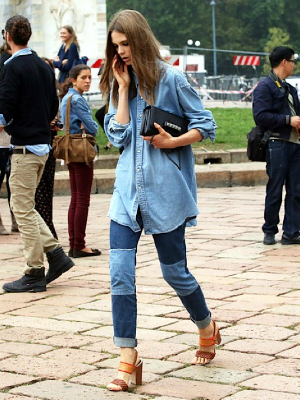 Джинсовая рубашка (1)