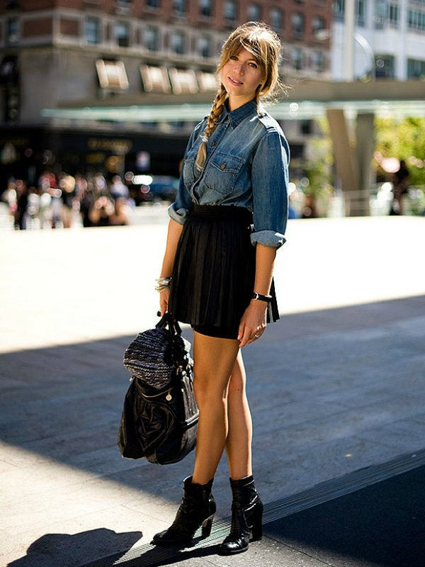С чем носить джинсовую рубашку (90 фото-луков с женскими ...