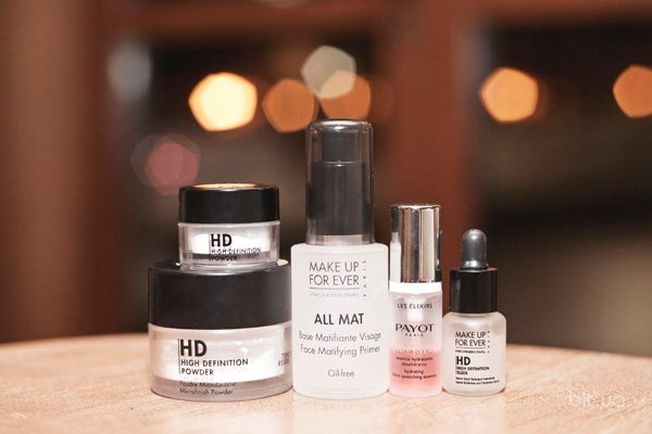 HD High Definition Loose Powder, Make Up For Ever; All Mat,  Make Up For Ever; HD Elixir, Make Up For Ever; Élixir d'Eau, Payot