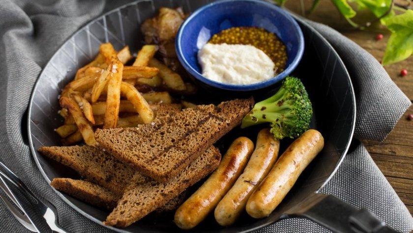 Сковородка жареных колбасок от шефа, 105 грн