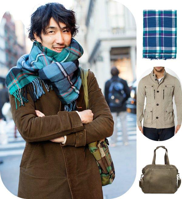 Как это носить: 5 мужских образов с объемным шарфом
