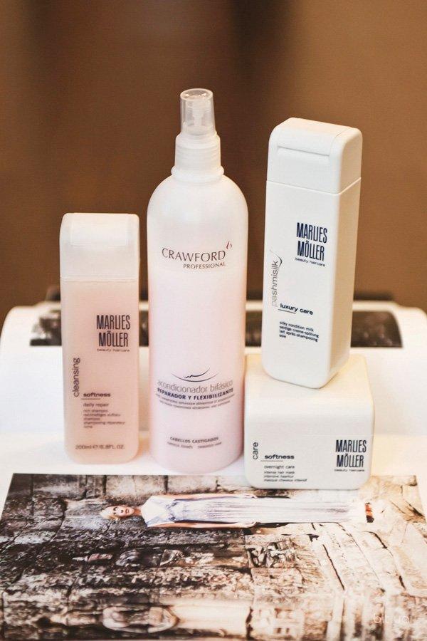 Cleansing Softness Daily Repair Rich Shampoo, Marlies Möller; Pashmisilk Silky Condition Milk, Marlies Möller; Softness Overnight Care Hair Mask, Marlies Möller; двухфазный кондиционер, Сrawford Professional
