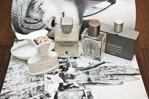 Love In White Perfume, Creed; Artek Standard, Comme des Garcons; Aurisse, S4P; Illuminum Perfume; Oyedo Diptyque