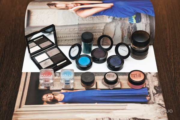 Тени и пигменты M.A.C, Make Up For Ever, Parisax Professional