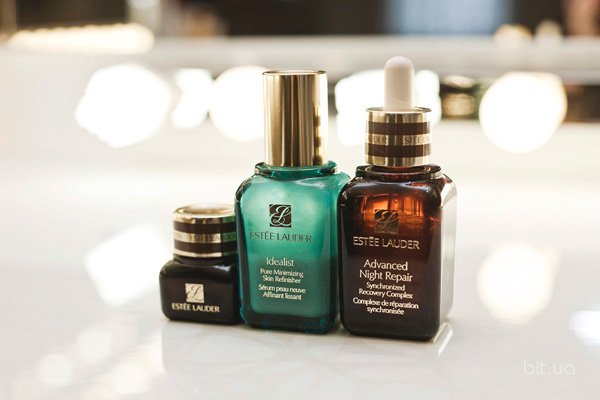 Idealist, Estee Lauder; Advanced Night Repair, Estee Lauder; Advanced Night Repair Eye Serum, Estee Lauder