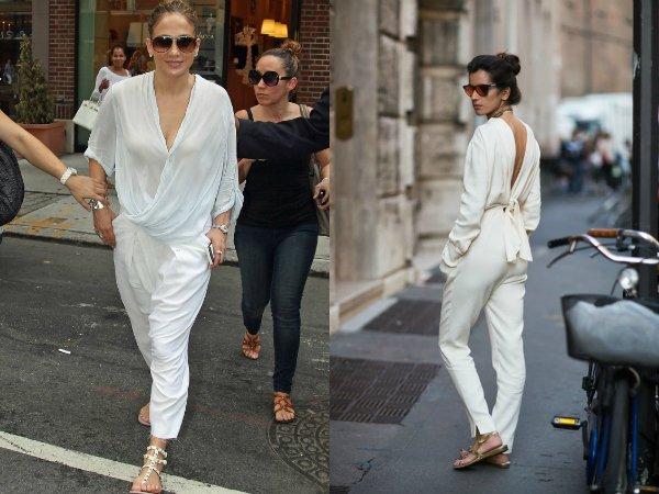 Как правильно носить белый брючный костюм (3)