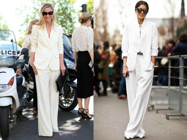 Как правильно носить белый брючный костюм (7)
