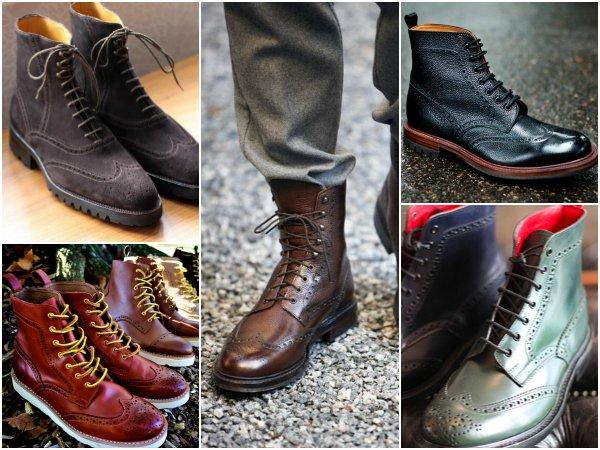 Обувь с крыловидным мыском wingtip boots (3)