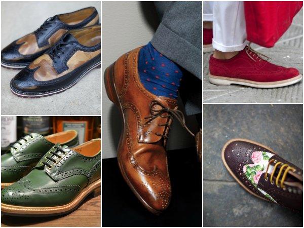 Обувь с крыловидным мыском wingtip boots (4)