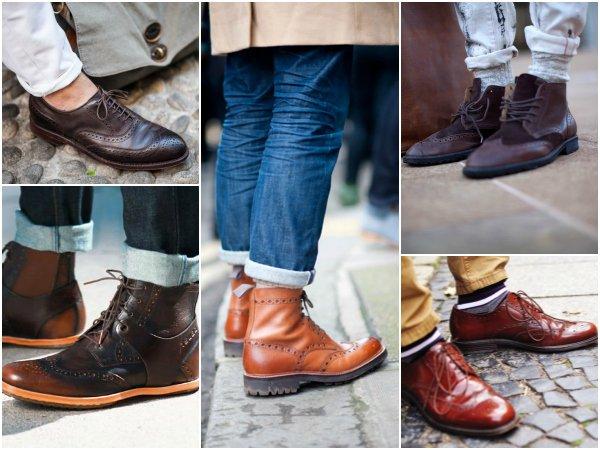 Обувь с крыловидным мыском wingtip boots (5)
