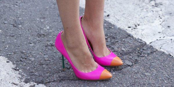 Туфли с контрастным мыском