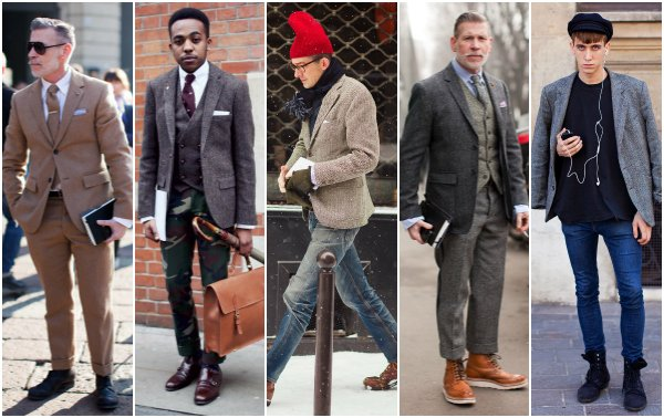Как это носить: 5 мужских образов с твидовым пиджаком