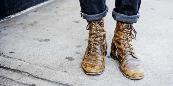 Обувь с потертостями и шармом