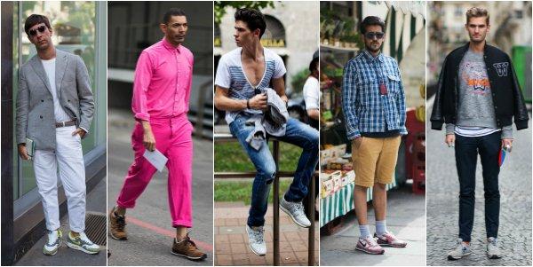 5 мужских образов с кроссовками