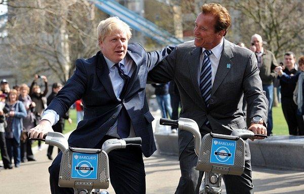 London Mayor Boris Johnson takes former Governor of California A