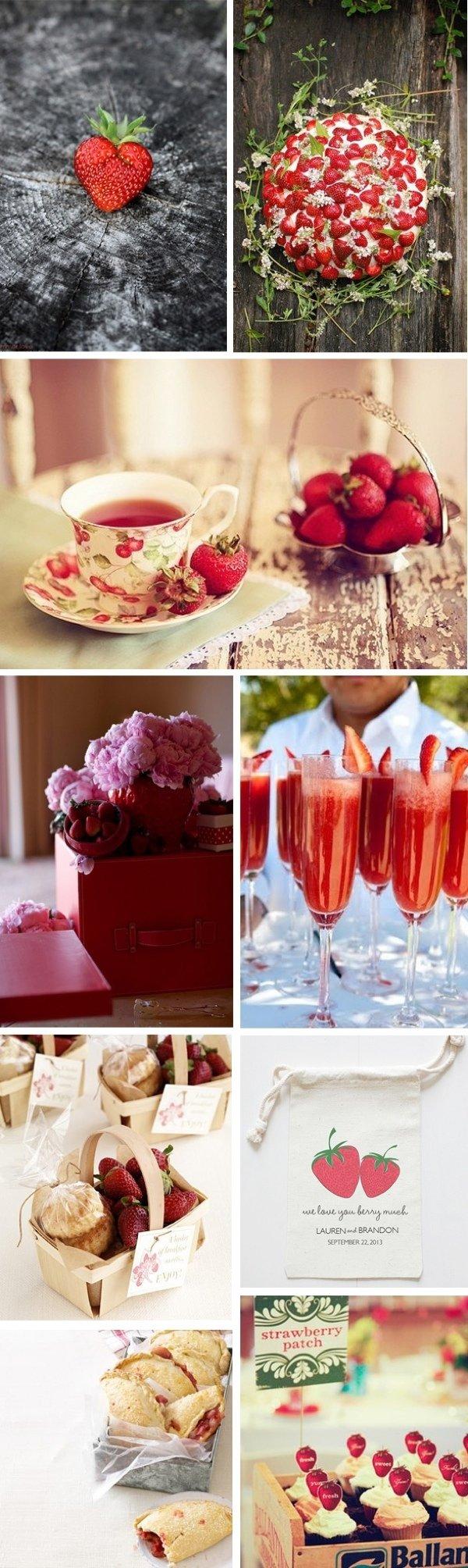 Идеи для летних фруктовых вечеринок: клубничная