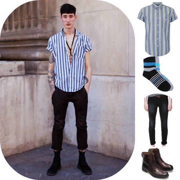 Как это носить: 5 мужских образов с вещами в полоску