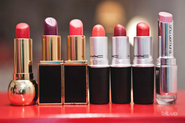 Beauty Lip Color, Tom Ford; Lipstick, M.A.C; Rouge Unlimited, Shu Uemura